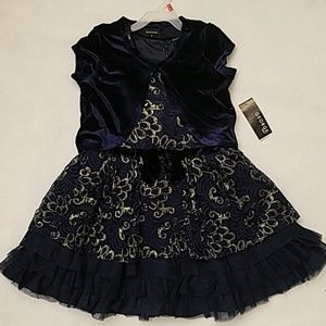 George Navy Blue and Gold Dress sz 6